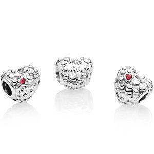 Pandora Mum In A Million Red Heart Charm